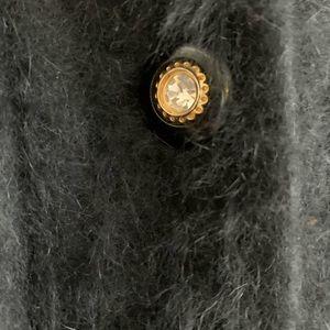Misook angora cardigan, XL, black, vintage.